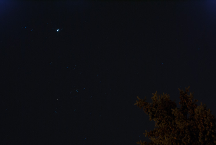 Jupiter and Aldebaran shine in the southeast this week.