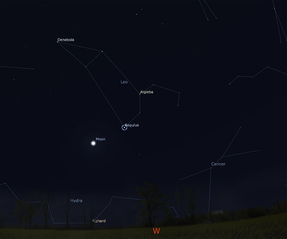 Moon and Regulus on June 14