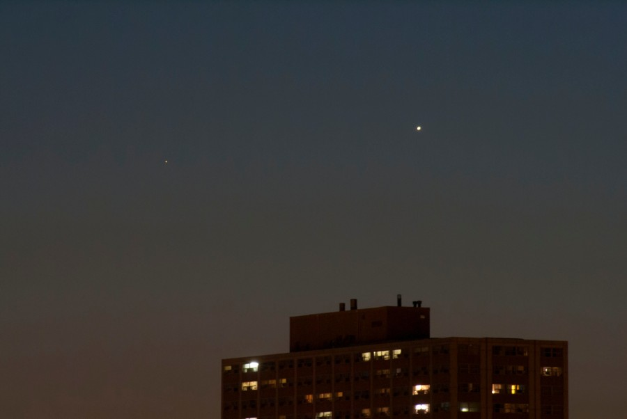 Mercury and Venus (telephoto)