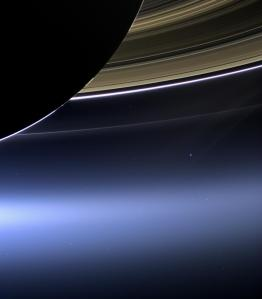 The Cassini spacecraft took this photo of Earth and the moon while orbiting Saturn on July 19, 2013.
