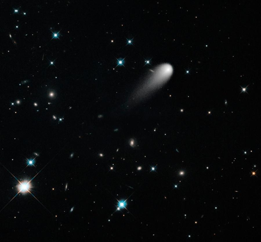 Hubble Telescope image of Comet ISON