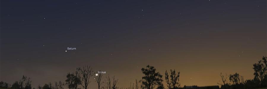 Venus and Saturn on September 5