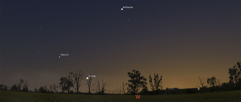 Venus and Saturn on September 5