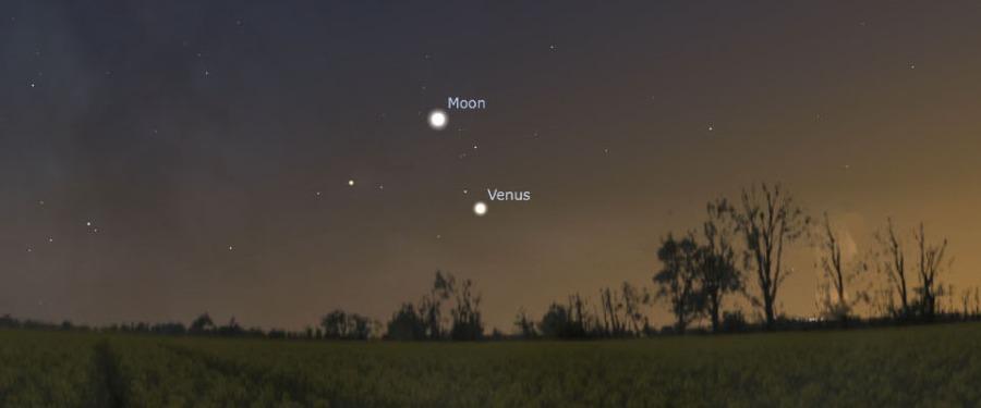 Moon and Venus (October 8)