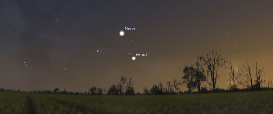 Moon and Venus (October 8)