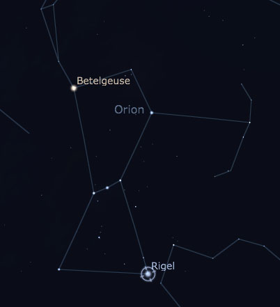 Rigel in Orion