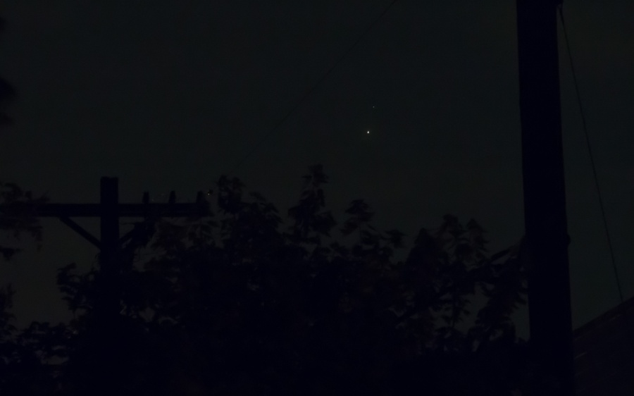 The conjunction of Venus and Jupiter on June 30, 2015