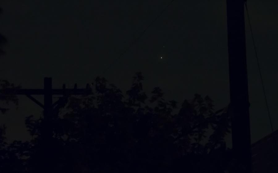 The conjunction of Venus and Jupiter on June 30, 2015